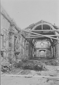 Mission San Carlos Ruins Looking From the Altar, Taken Before 1880
